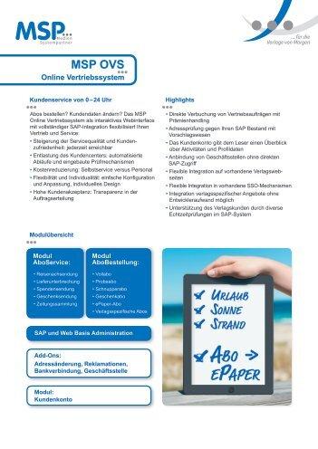 produktblatt_OVS - MSP Medien Systempartner