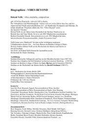 Künstlerbiografien - Österreichisches Kulturforum Berlin