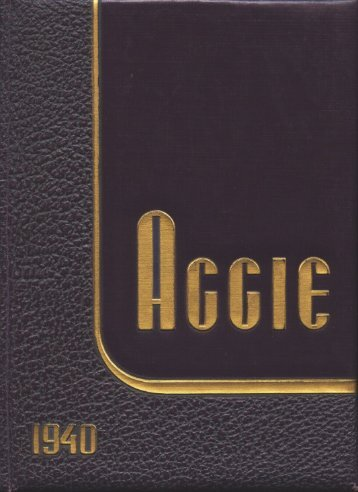 Aggie 1940 - Yearbook