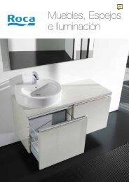 Muebles, espejos e iluminación, catálogo Roca. - Venespa