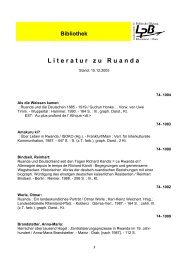 Ruanda - Landeszentrale für politische Bildung Rheinland-Pfalz
