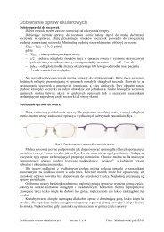 Dobieranie opraw okularowych - Optimed