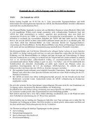 Protokoll der 41. AFGN-Tagung vom 11.11.2007 - Wanderfische