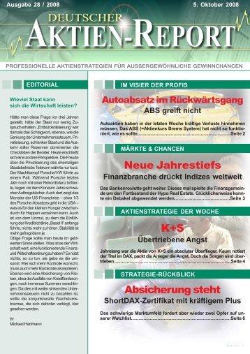 Absicherung steht Neue Jahrestiefs K+S - Deutscher Aktien-Report
