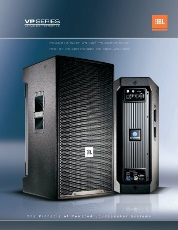VP Series Brochure - JBL Professional