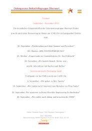 Termine September – Dezember 2013 Die ... - Osteoporose