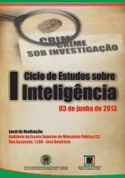 I Ciclo de Estudos sobre Inteligência