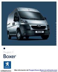 Catálogo del Peugeot Nueva Boxer - enCooche.com