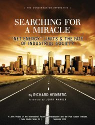 Searching for a Miracle - International Forum on Globalization