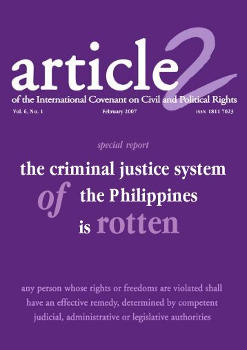 of the Philippines the criminal justice system is - Article 2