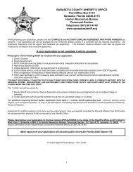 SARASOTA COUNTY SHERIFF'S OFFICE Post Office Box 4115 ...