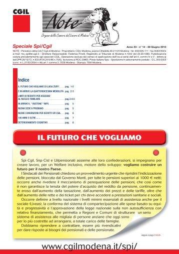 NOTE MODENA n°14 Giu 2013.indd - CGIL Modena