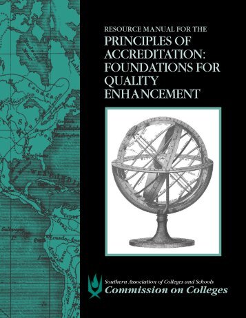 Resource Manual for the Principals of Accreditation