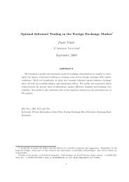 Optimal Informed Trading in the Foreign Exchange Market Paolo ...