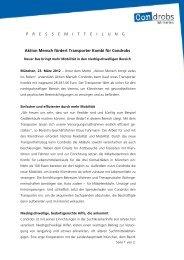 Aktion Mensch fördert Transporter Kombi für Condrobs