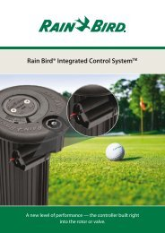 Rain Bird® Integrated Control SystemTM - Rain Bird irrigation