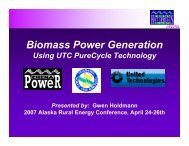 Biomass Power Generation - University of Alaska Fairbanks