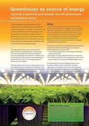 Greenhouse as source of energy - Energiek2020