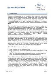 Konzept Frühe Hilfen - Kreis Paderborn