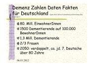 Versorgung Demenzerkrankter in Deutschland - Netzwerk - Pflege ...