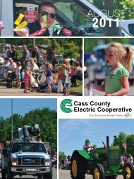 AUGUST - Cass County Electric Cooperative