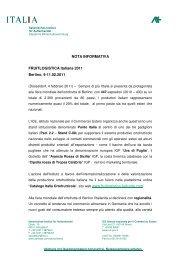 NotaInformativa-Fruitlogistica Italiana 2011 - Italienisches Institut für ...