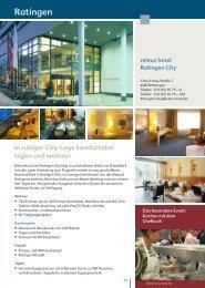 Tagungsplaner-RC - relexa hotel Ratingen City