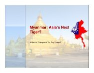 Myanmar: Asia's Next Tiger? - World Economic Forum