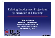 Relating Employment Projections to Education and ... - OIT/Cinterfor