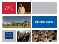 Annual Report 2012 - IAE Business School