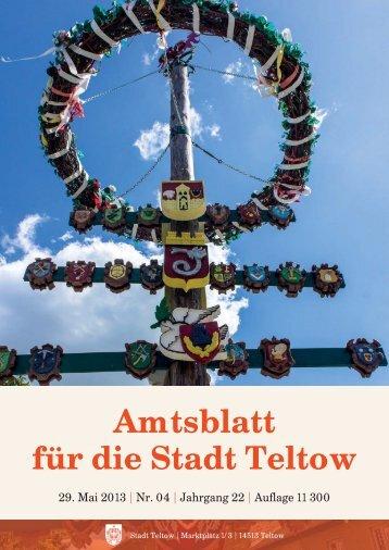 Amtsblatt Teltow 4_2013.indd - der Stadt Teltow