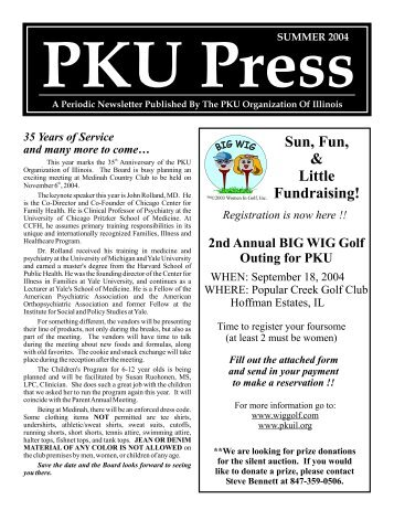 Summer 2004 - PKU Organization of Illinois