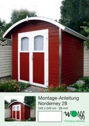 Montage-Anleitung Norderney 28 - Mein Gartenshop24