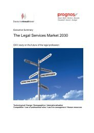 The Legal Services Market 2030 - Deutscher Anwaltverein