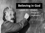 Christian beliefs about God - Millthorpe School York