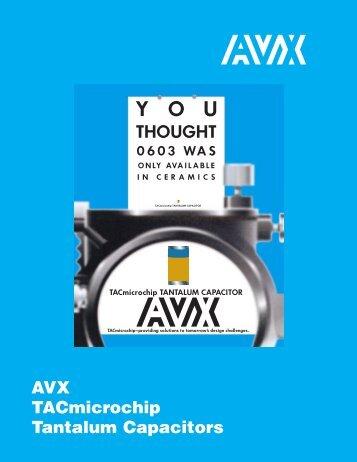 AVX TAC Microchip Tantalum Capacitors Catalog - RYSTON ...