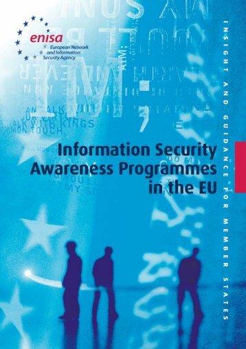 Information Security Awareness Programmes in the EU - Instituto de ...
