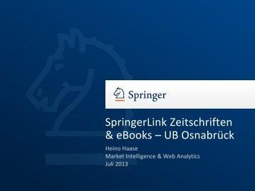 Ergebnisse der Umfrage zu eBooks - Universität Osnabrück