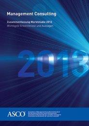 Zusammenfassung Marktstudie 2013 - Asco