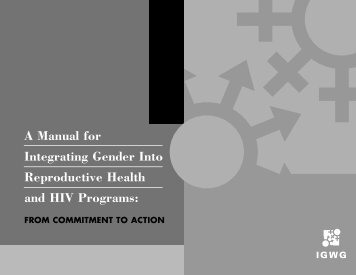 A manual for integrating gender into reproductive health