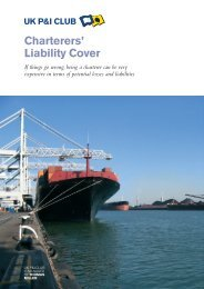 Charterers' Liability Cover - UK P&I