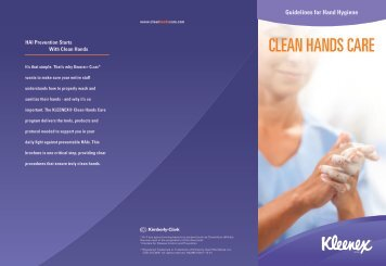 Guidelines for Hand Hygiene - Kimberly-Clark Health Care