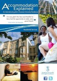 International Students Accommodation - Swansea University