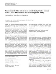 An assessment of the mixed layer salinity budget in the ... - LEGOS