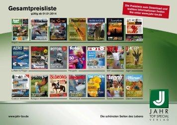 Mediadaten - Jahr Top Special Verlag