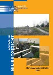 Handhavingbeleidsplan 2011 provincie Groningen