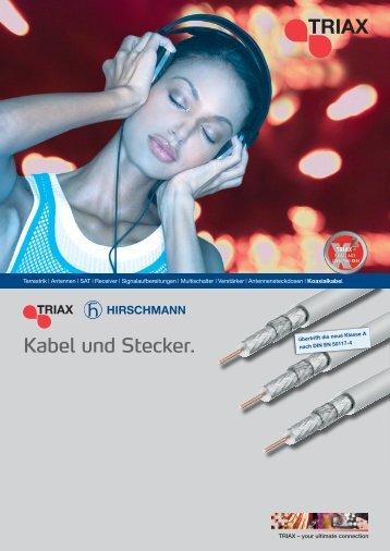 Kabel und Stecker. - Triax