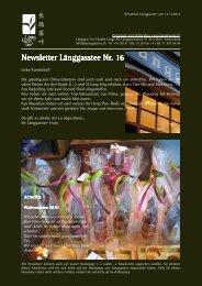 Newsletter Nr. 16 vom 14. Dezember 2010 - Länggass-Tee
