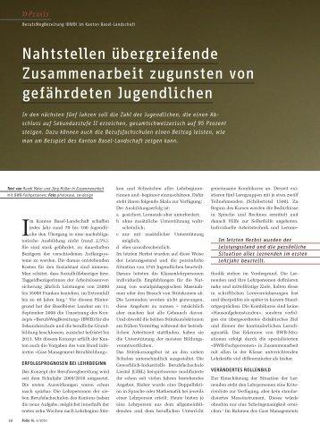 Folio - Ausgabe 04/2010 - Amt für Volksschulen - Kanton Basel ...