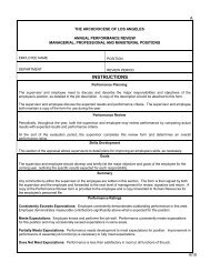 Performance Appraisal Form - the Archdiocese of Los Angeles